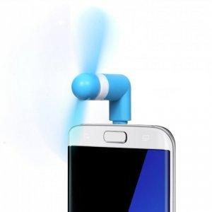 mini ventilateur bleu micro usb rose pour android windows. Black Bedroom Furniture Sets. Home Design Ideas