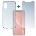 4SM-TPUGLASSIPXR - Pack 2en1 Coque + Vitre protection écran pour iPhone XR de 4Smarts