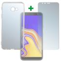 4SM-TPUGLASSJ4PLUS - Pack 2en1 Coque + Vitre protection écran pour Galaxy-J4+ de 4Smarts