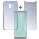 4SM-TPUGLASSJ62018 - Pack 2en1 Coque + Vitre protection écran pour Galaxy-J6 de 4Smarts