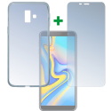4SM-TPUGLASSJ6PLUS - Pack 2en1 Coque + Vitre protection écran pour Galaxy-J6+ de 4Smarts