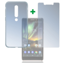 4SM-TPUGLASSNOKIA61 - Pack 2en1 Coque + Vitre protection écran pour Nokia 6.1 (2018)
