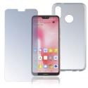 4SM-TPUGLASSP20LITE - Pack 2en1 Coque + Vitre protection écran pour Huawei P20-Lite de 4Smarts