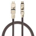 4SMARTS-COMBO6EN1 - Câble 4Smarts 6 en 1 renforcé prises USB vers USB-C / MicroUSB / lightning