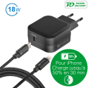 4SMARTS-WALLSETIPD - Chargeur secteur compatible Fast-Charge iPhone / iPad de 4Smarts