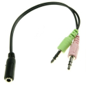 ADAPT-G722204 - Adaptateur audio Jack 3.5mm femelle vers 2 jack 3.5mm mâles