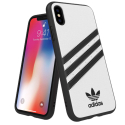 ADIDAS-BANDBLANCIPX - Coque iPhone X/Xs Adidas Originals Gazelle 3 bandes coloris blanc
