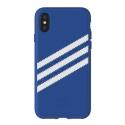 ADIDAS-BANDBLEUIPX - Coque iPhone X Adidas Originals Gazelle 3 bandes coloris bleu