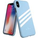 ADIDAS-BANDECIELIPX - Coque iPhone X Adidas Originals Gazelle 3 bandes bleu ciel