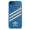 ADIDAS-COVIP78BLEU - Coque Adidas iPhone 7/8 aspect cuir bleu