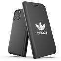 ADIDAS-FOLIP11PRONOIR - Etui iPhone 11 PRO Adidas folio noir rabat latéral