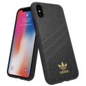 ADIDAS-SNAKEIPXNOIR - Coque iPhone Xs Adidas Originals Snake 3 bandes coloris noir