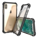 AIRBAG-IPXNOIRTRANS - Coque iPhone X Airbag bumper noir et dos transparent rigide