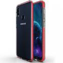 AIRYSHIELD-A10SROUGE - Coque antichoc Galaxy A10s Airy-Shield rouge et transparente