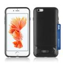 ANGIBABE-IP6NOIR - Coque robuste iPhone 6/6s hybride antichoc coloris noir avec logement cartes