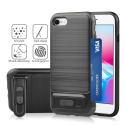 ANGIBABE-IP8NOIR - Coque robuste iPhone 7/8 hybride antichoc coloris noir avec logement cartes