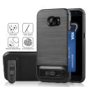 ANGIBABE-TPUS7EDGENOIR - Coque robuste Galaxy S7-Edge hybride antichoc coloris noir avec logement cartes