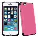 ANTICHOCIP647ROSE - Coque hybride bi-matières anti-choc pour iPhone 6 coloris rose