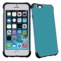 ANTICHOCIP647TURQUOISE - Coque hybride bi-matières anti-choc pour iPhone 6 coloris turquoise