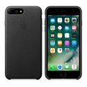 APPLE-MMYJ2ZM - Coque officielle Apple iPhone 7/8 Plus en cuir coloris noir