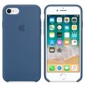 APPLE-MQGN2FE - Coque officielle Apple iPhone 7/8 silicone soft beu cobalt