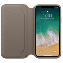 APPLE-MQRY2ZMA - Etui officielle Apple iPhone X cuir coloris taupe