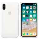 APPLE-MQT22FE - Coque officielle Apple iPhone X silicone soft blanc