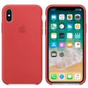 APPLE-MQT52FE - Coque officielle Apple iPhone X silicone soft rouge