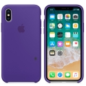 APPLE-MQT72FE - Coque officielle Apple iPhone X silicone soft violet