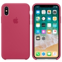 APPLE-MQT82FE - Coque officielle Apple iPhone X silicone soft framboise