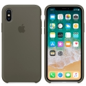 APPLE-MR552FEE - Coque officielle Apple iPhone X silicone soft olive