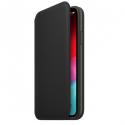 APPLEIP11PROMAX-MX082ZM - Etui cuir officielle Apple iPhone 11 ProMax rabat latéral coloris noir