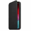 APPLEIPXS-MRWW2ZMA - Etui cuir officielle Apple iPhone X/Xs rabat latéral coloris noir