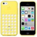 APPLEMF038ZMJAUNE - Housse Coque souple origine APPLE pour iPhone 5C coloris jaune MF038ZM/A