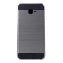ARMOR-J4PLUSGRIS - Coque renforcée Galaxy J4+ hybride antichoc coloris gris