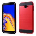 ARMOR-J4PLUSROUGE - Coque renforcée Galaxy J4+ hybride antichoc coloris rouge