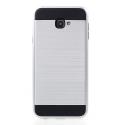 ARMOR-J4PLUSSILVER - Coque renforcée Galaxy J4+ hybride antichoc coloris silver