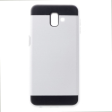 ARMOR-J6PLUSBLANC - Coque renforcée Galaxy J6+ hybride antichoc coloris blanc