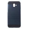 ARMOR-J6PLUSBLEU - Coque renforcée Galaxy J6+ hybride antichoc coloris bleu nuit
