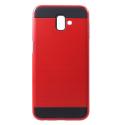 ARMOR-J6PLUSROUGE - Coque renforcée Galaxy J6+ hybride antichoc coloris rouge
