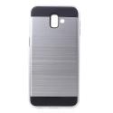 ARMOR-J6PLUSSILVER - Coque renforcée Galaxy J6+ hybride antichoc coloris gris silver