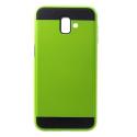 ARMOR-J6PLUSVERT - Coque renforcée Galaxy J6+ hybride antichoc coloris vert