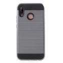 ARMOR-P20LITEGRIS - Coque renforcée Huawei P20-Lite hybride antichoc coloris gris
