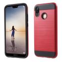 ARMOR-P20LITEROUGE - Coque renforcée Huawei P20-Lite hybride antichoc coloris rouge