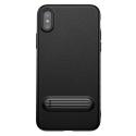 BASEUS-KICKSTANDIPX - Coque Baseus iPhone X série KickStand coloris noir