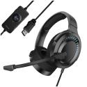 BASEUS-NGD05-01-NOIR - Casque Baseus Gaming NGD05 coloris noir câble renforcé