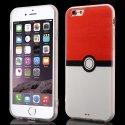 BIMATPOKEBALLFULLREDIP6 - Coque bi-matières contour souple dos rigide Poke-Ball rouge iPhone 6s