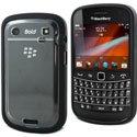 BIMAT_BB9900 - Housse Coque de protection rigide Muvit bimatière ploycarbonate et silicone noire Blackberry 9900