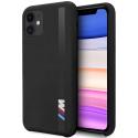 BMHCN65SITLBK - Coque BMW iPhone 11 Pro MAX silicone noir avec bande M3