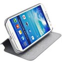 BOOKSTYLE-S4MINIGRIS - Etui Flip and Stand rabat Galaxy S4 Mini bookstyle gris
